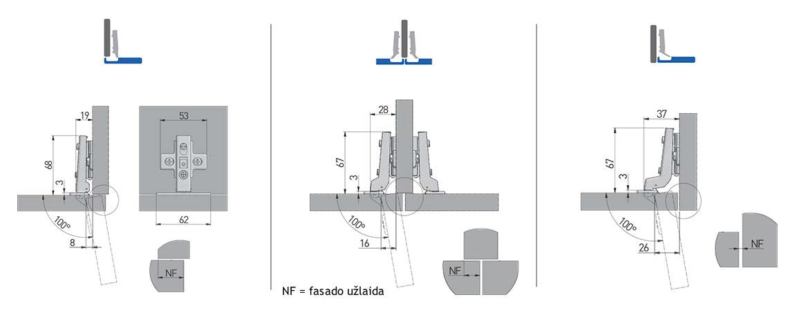 Lankstas CONL GTV, su plokštele - projektavimas