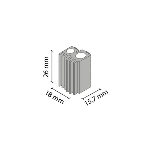Pleištas 4mm stiklui MULTIOMEGA