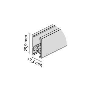 Horizontalus viršutinis profilis TWIN