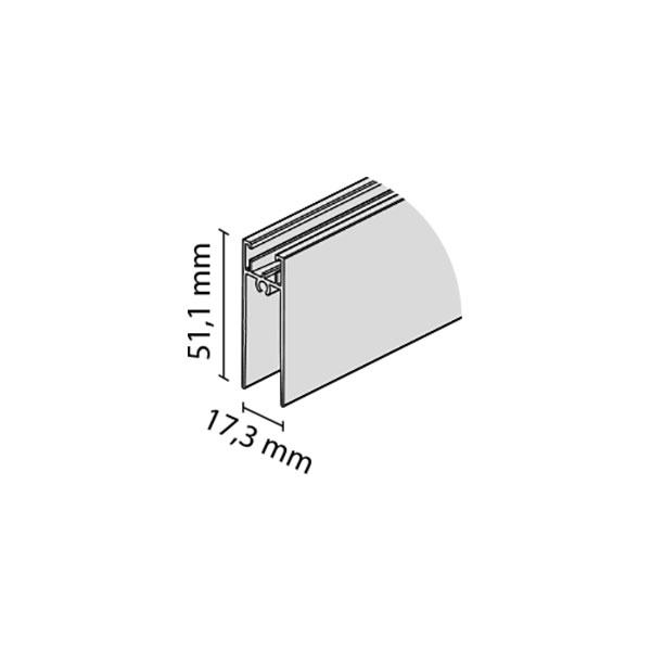 Horizontalus apatinis profilis TWIN