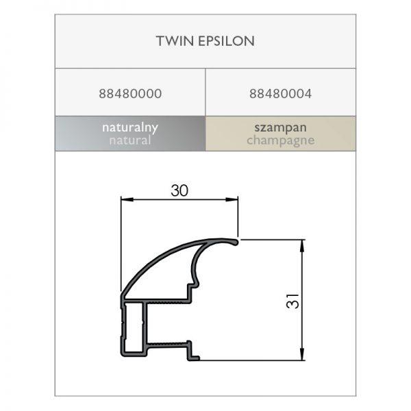 Rankenos profilis TWIN EPSILON