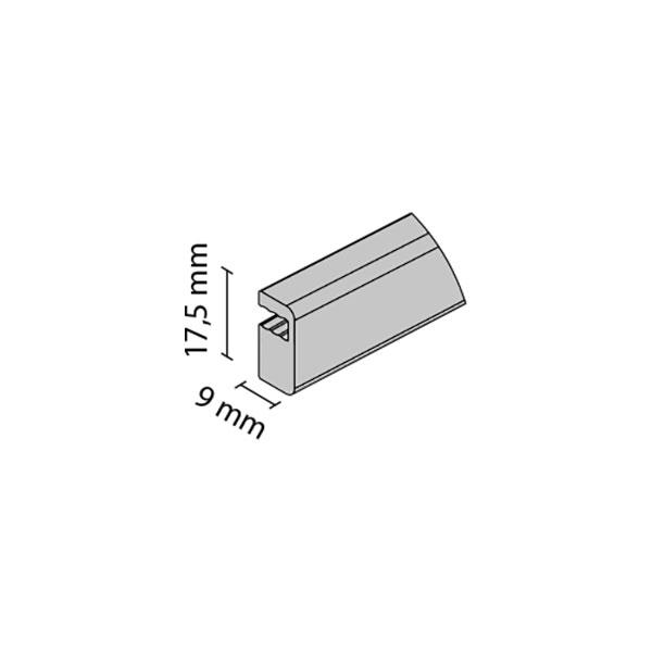 Tarpinė U-18 4mm stiklui