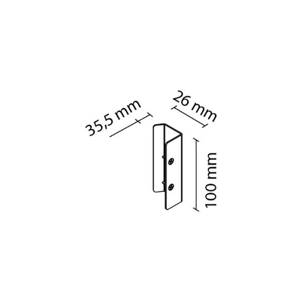 Šoninė rankena FRAMELESS 10mm