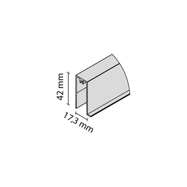 Apatinis horizontalus profilis FRAMELESS