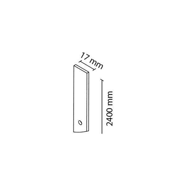 Sutvirtinimo profilis į vertikalų šoninį profilį FRAMELESS