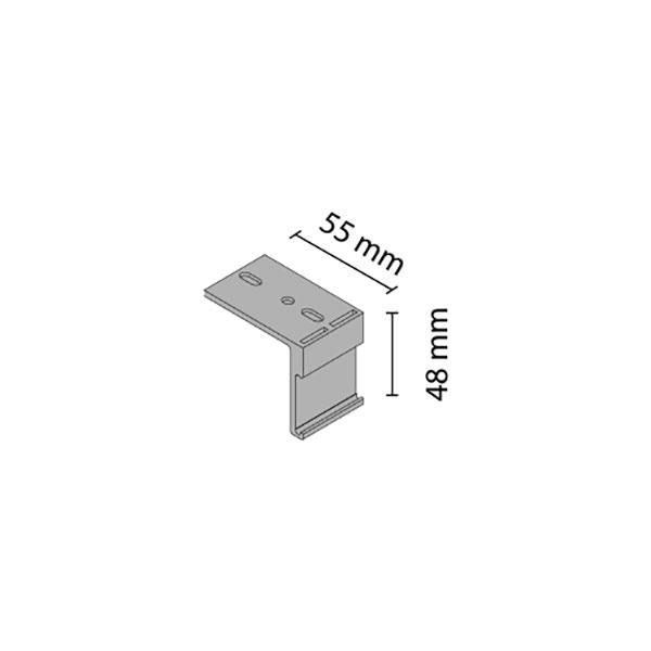 Uždengimo profilio K-075 tvirtinimas prie lubų
