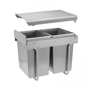 Šiukšliadėžė ištraukiama dviejų dalių PRACTI ECO 300