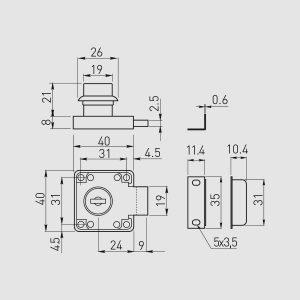 Kvadratinė spynelė K-138