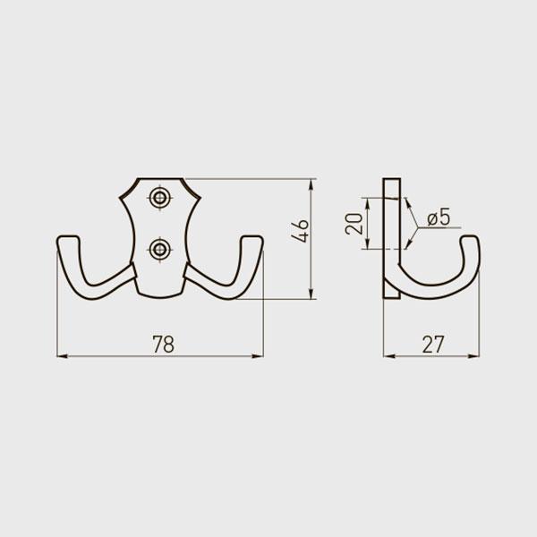 Kabliukas dvigubas K24-B0