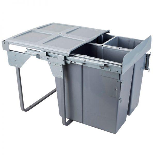 Šiukšliadėžė ištraukiama trijų dalių CLG-609M-3