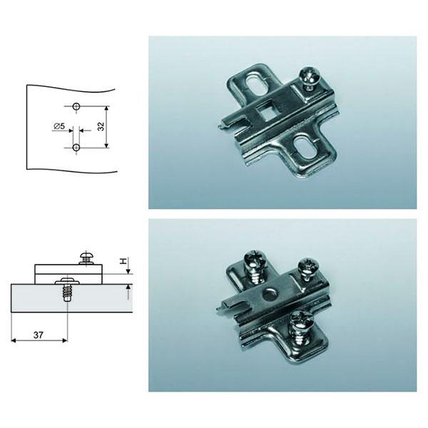 Plokštelė Ø35 lankstui