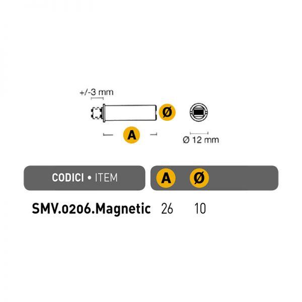Įfrezuojamas magnetukas su plokštele