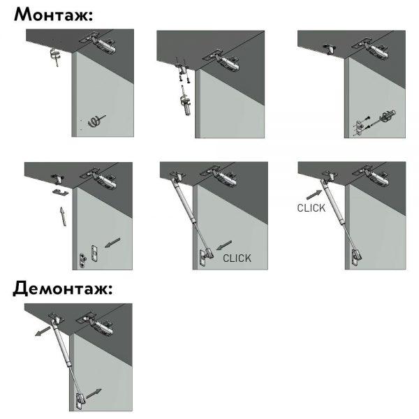 Mechanizmas dujinis durelių pakėlimui NEO
