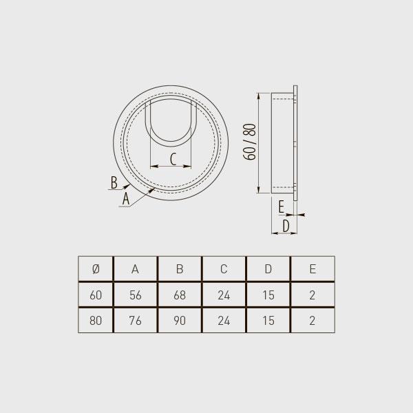 Laidų žiedas metalinis Ø60