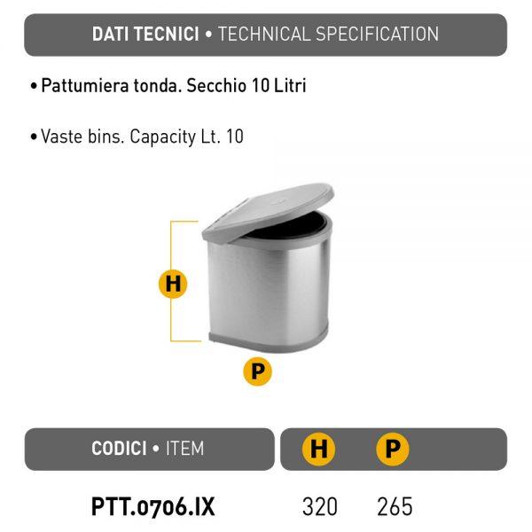 Automatinė šiukšliadėžė PTT-0706