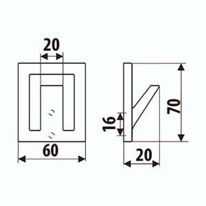 Kabliukas viengubas WK15