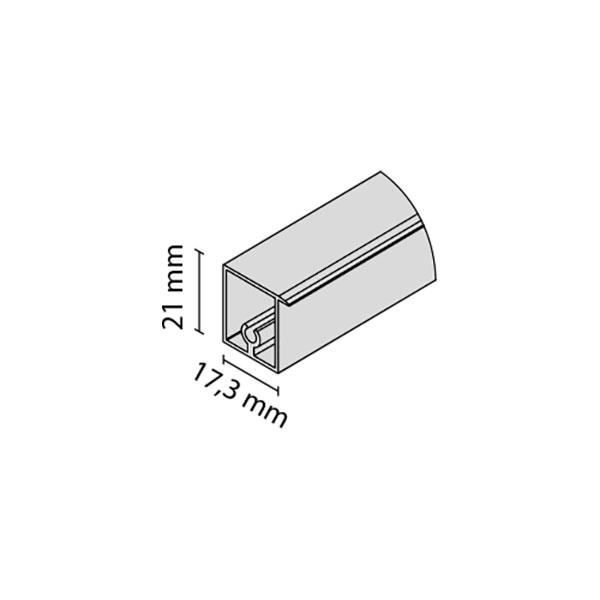 Viršutinis horizontalus profilis FRAMELESS
