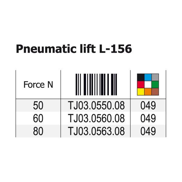 Mechanizmas dujinis durelių pakėlimui (trumpas, L-156mm)