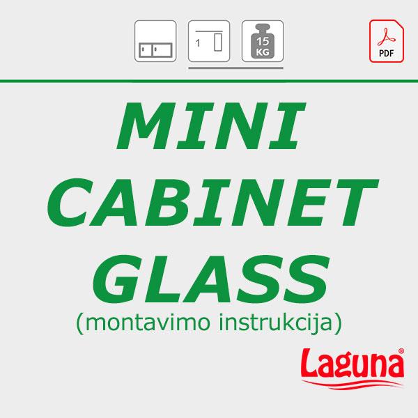 MINI CABINET GLASS montavimo instrukcija